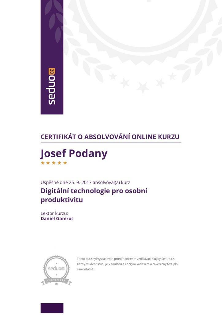 SEDUO: Digitální technologie pro osobní produktivitu